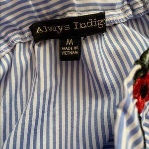 always indigo Tops - Always Indigo Floral Top